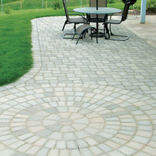 finished garden patio