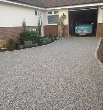 resin bound gravel driveway after