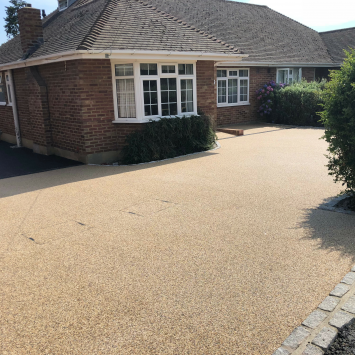 Resin bound gravel after